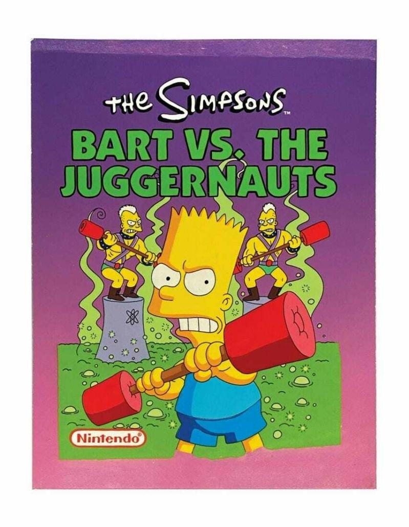 Final cover art for Bart vs. The Juggernauts, est. $10,000-$20,000