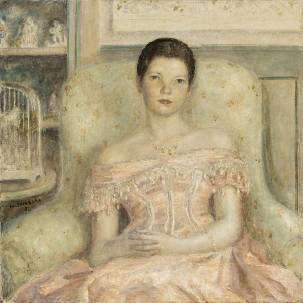Frederick Carl Frieseke, 'Dress of 1860,' est. $20,000-$30,000