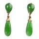 Pair of jadeite jade 14K gold drop earrings, $19,200