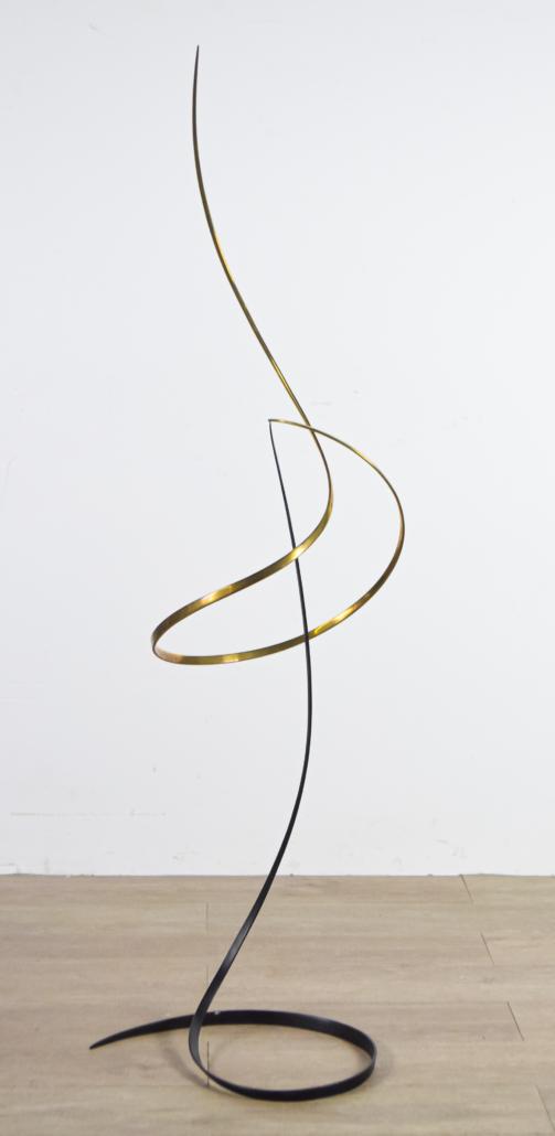 Samuel Ogden brass and iron kinetic sculpture, est. $400-$600