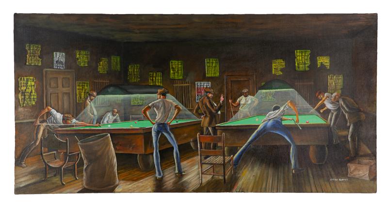 Ernie Barnes, 'Two Shots,' $81,250