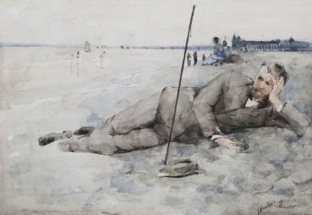 Julian Alden Weir, 'On the Beach, Lake Champlain,' 1879. Courtesy of the Chazen Museum of Art at the University of Wisconsin–Madison