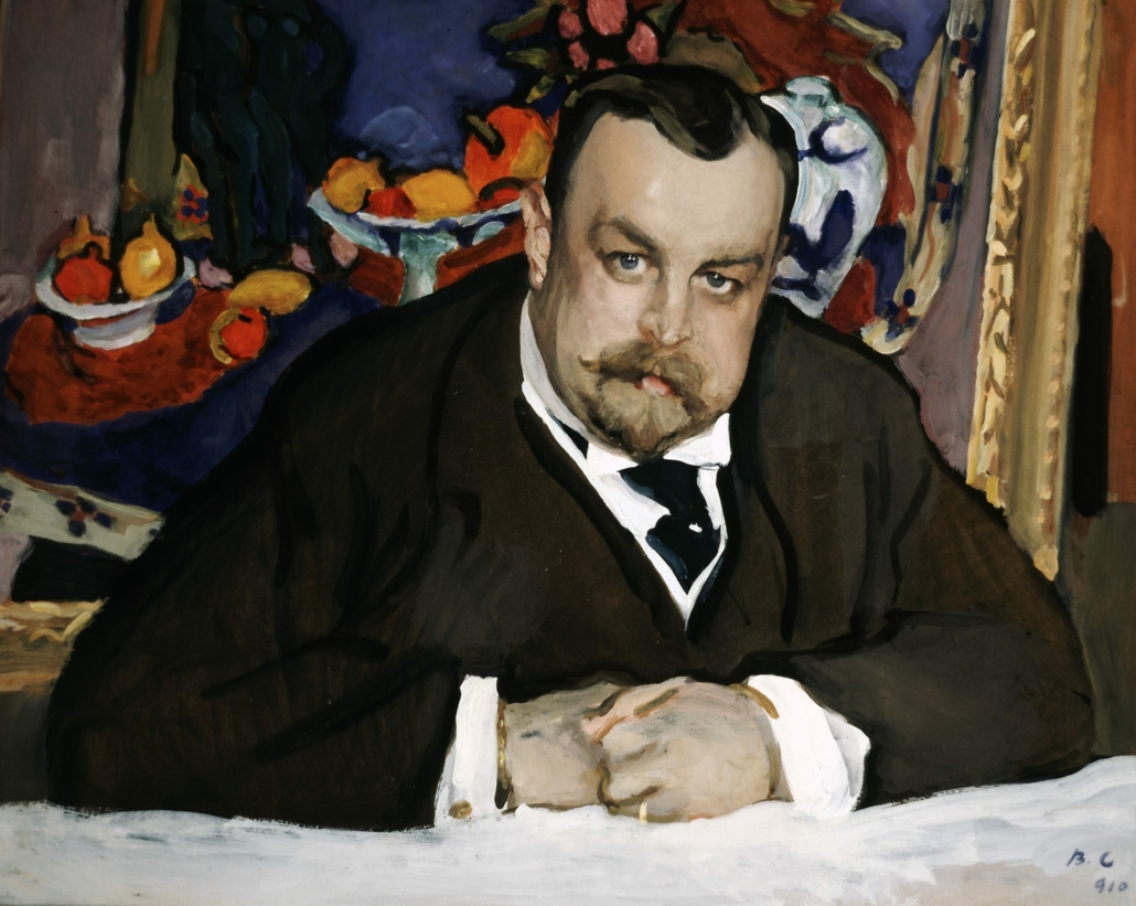 Valentin Serov, 'Portrait of the Collector of Modern Russian and French Paintings, Ivan Abramovich Morozov,' Moscow, 1910. Tempera on cardboard. 63.5 × 77 cm. Tretyakov Gallery, Moscow