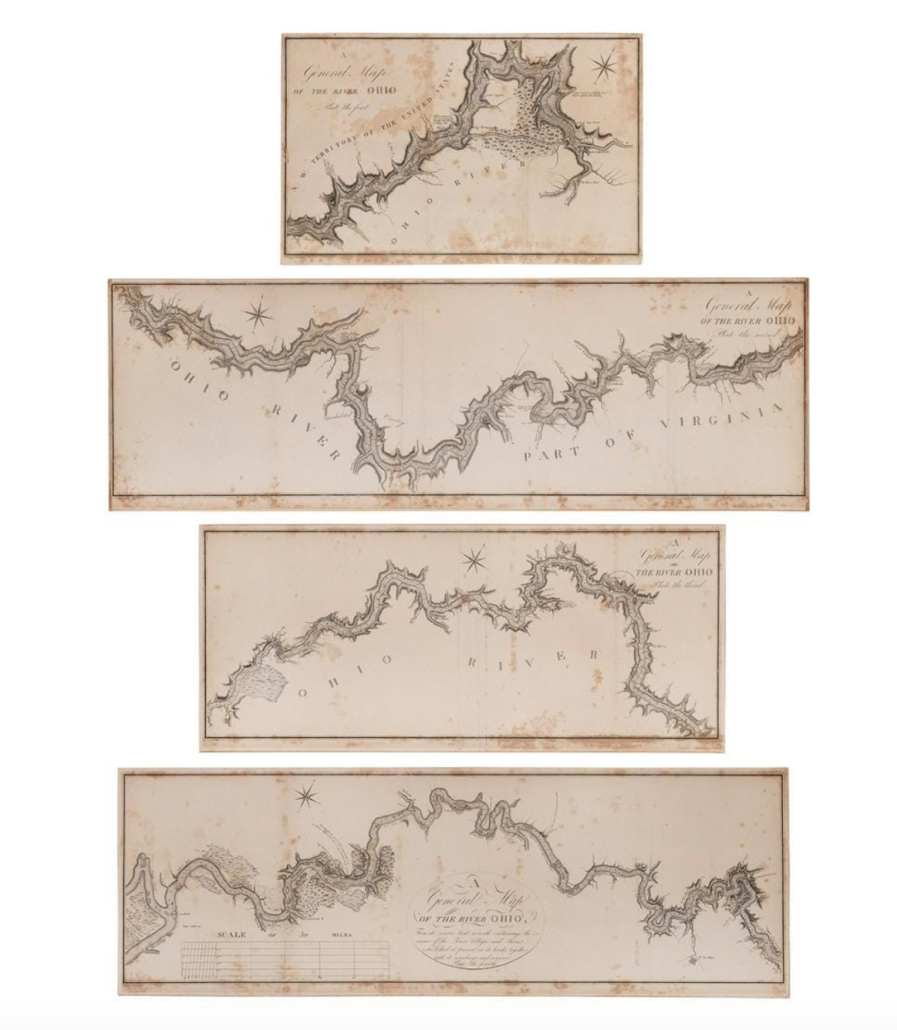 George H.V. Collot's A General Map of the River Ohio, $16,800