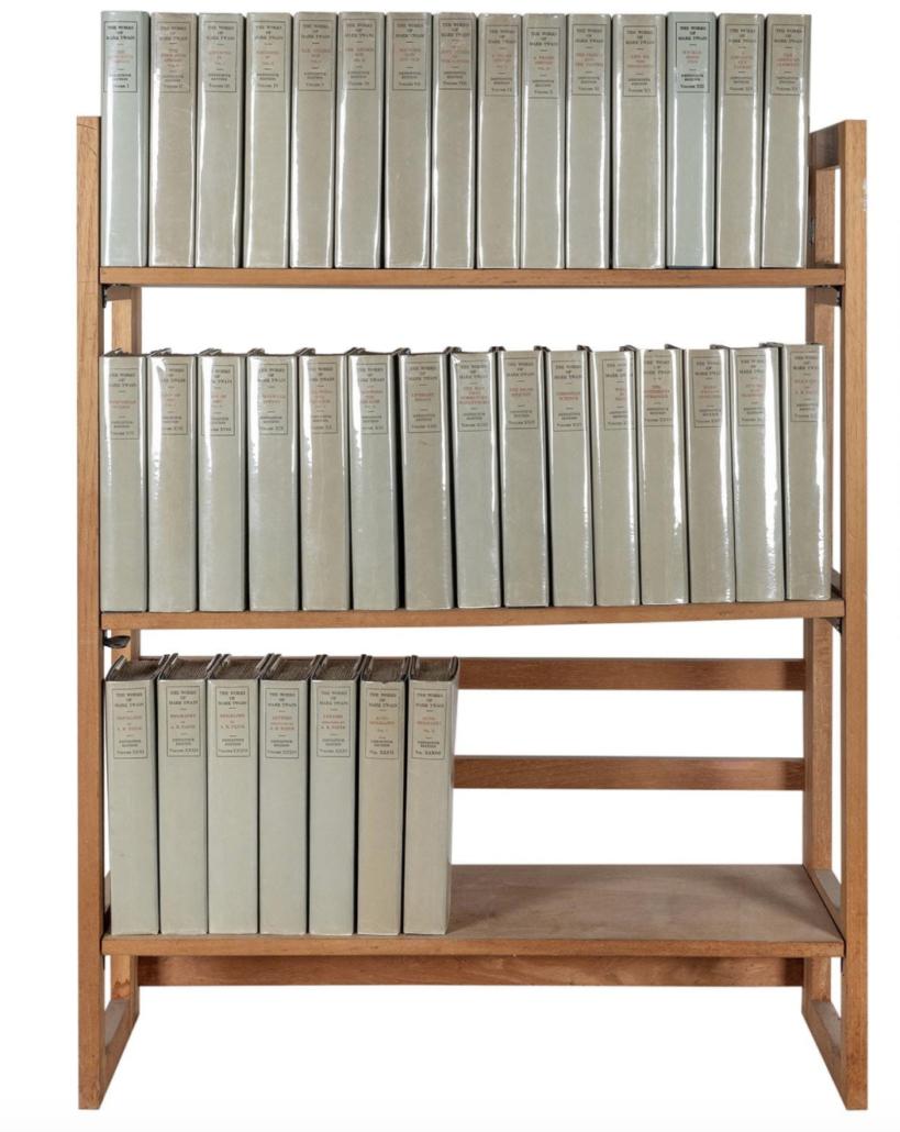 38-volume set of Mark Twain (Samuel Clemens) works, $33,600