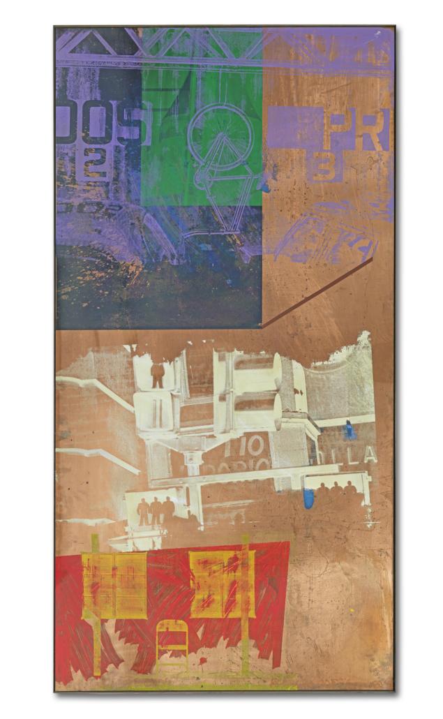 Robert Rauschenberg, 'Intersection (Copperhead),' est. £300,000-£500,000. Image courtesy of Bonhams