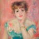 Auguste Renoir, 'Portrait of the Actress Jeanne Samary,' Paris, 1877. Oil on canvas, 56 × 47 cm. Pushkin Museum, Moscow