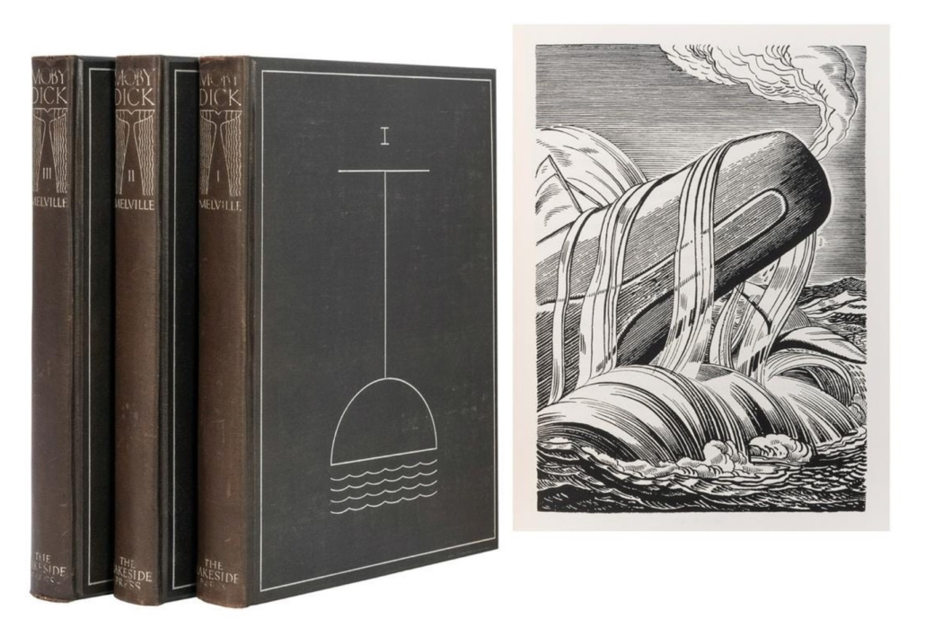 Three-volume set of Moby-Dick illustrated by Rockwell Kent, $10,800