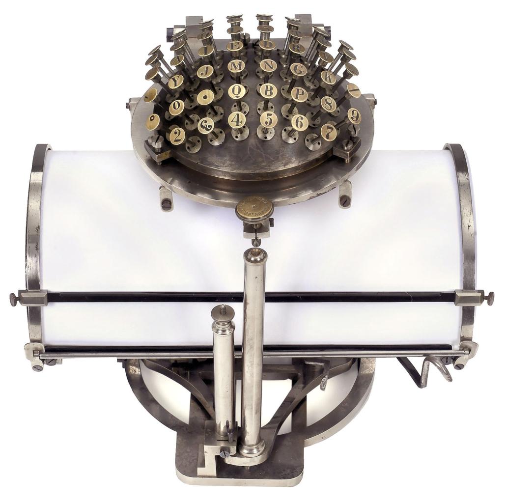 Early Malling-Hansen typewriter, est. €60,000-€90,000