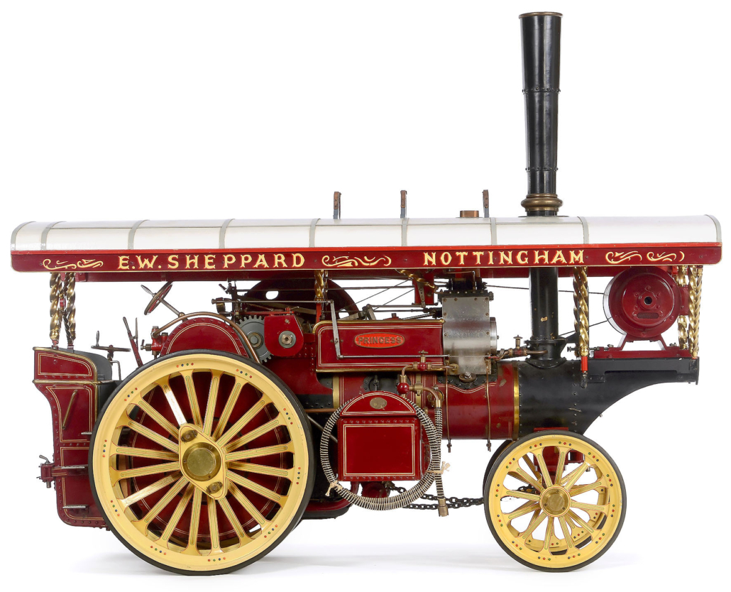 Tiny scale model of a Fowler showman's engine, est. €5,000-€8,000