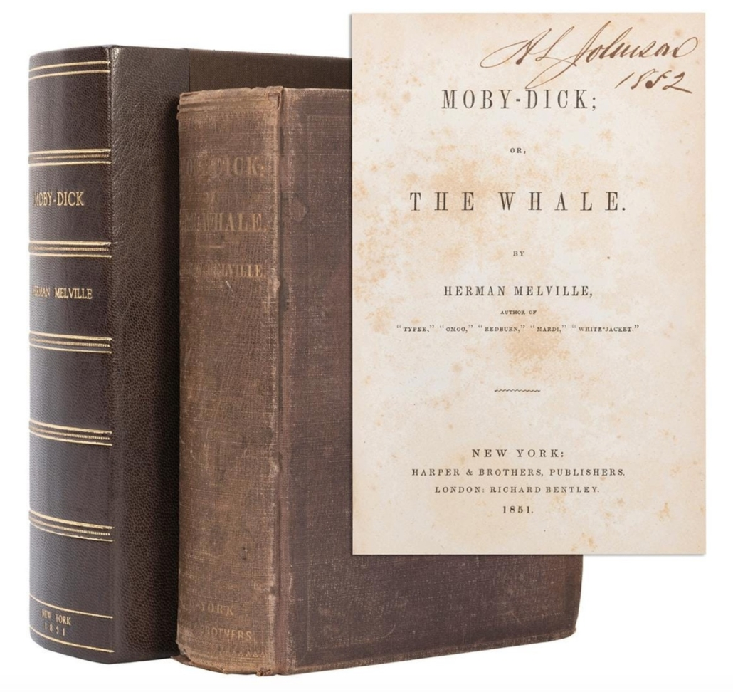 First American edition, first binding of Melville's Moby–Dick, $60,000