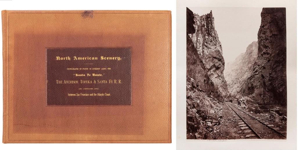 Album of albumen silver prints of scenery along the Santa Fe Route Railways, $22,800