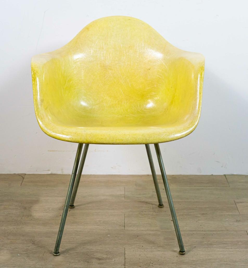 Eames for Herman Miller fiberglass arm chair, est. $400-$600