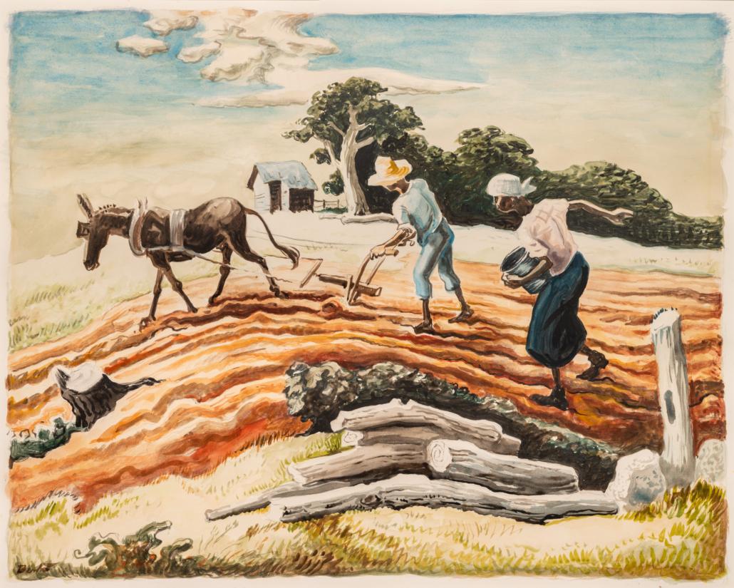 Thomas Hart Benton, 'Planting (Spring Plowing),' est. $200,000-$300,000