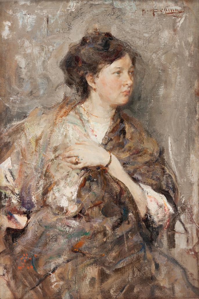 Nicolai Fechin, 'Study of a Woman (Portrait of Elena Konstantinovna Luksch-Makowsky),' est. $600,000-$800,000
