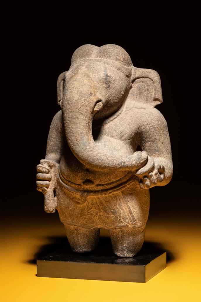 Khmer sandstone figure of Ganesha, est. $60,000-$80,000