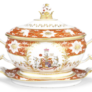 Chamberlain soup tureen, cover and stand from the Abergavenny Service, est. £8,000-£12,000. Image courtesy of Bonhams