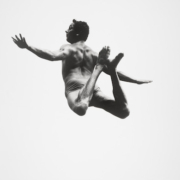 Aaron Siskind (1903–1991), Pleasures and Terrors of Levitation 9. 'Levitation #99,' 1954, gelatin silver print, Amon Carter Museum of American Art, Fort Worth, Texas, Bequest of Finis Welch, © Aaron Siskind Foundation