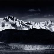 Ansel Adams, 'Winter Sunrise, Sierra Nevada from Lone Pine, California,' est. $30,000-$50,000. Image courtesy of Bonhams