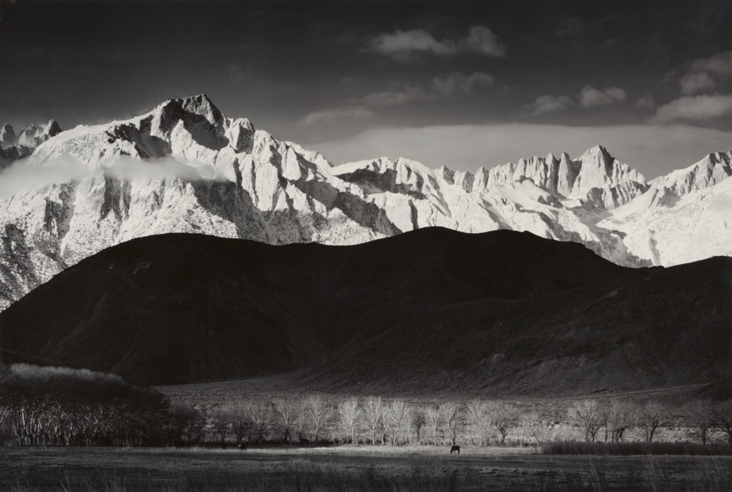 Ansel Adams (1902–1984), 'Winter Sunrise,' 1944, gelatin silver print, Amon Carter Museum of American Art, Fort Worth, Texas, Bequest of Finis Welch, © The Ansel Adams Publishing Rights Trust