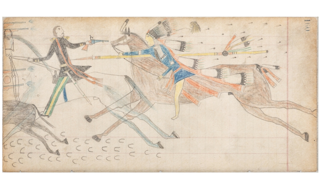 Arapaho drawing from the Vincent Price Ledger Book, $25,000