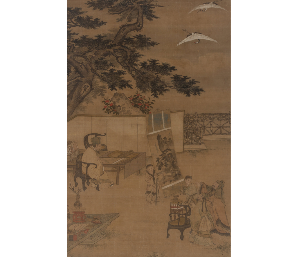 Chen Yu (attributed), 'Scholars and Attendants with Painting,' est. $15,000-$20,000