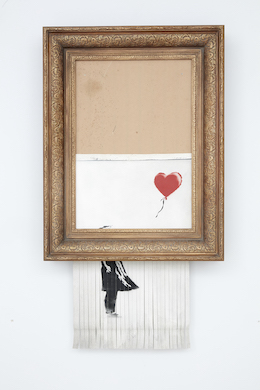 Notorious Banksy that shredded itself returns to auction in October