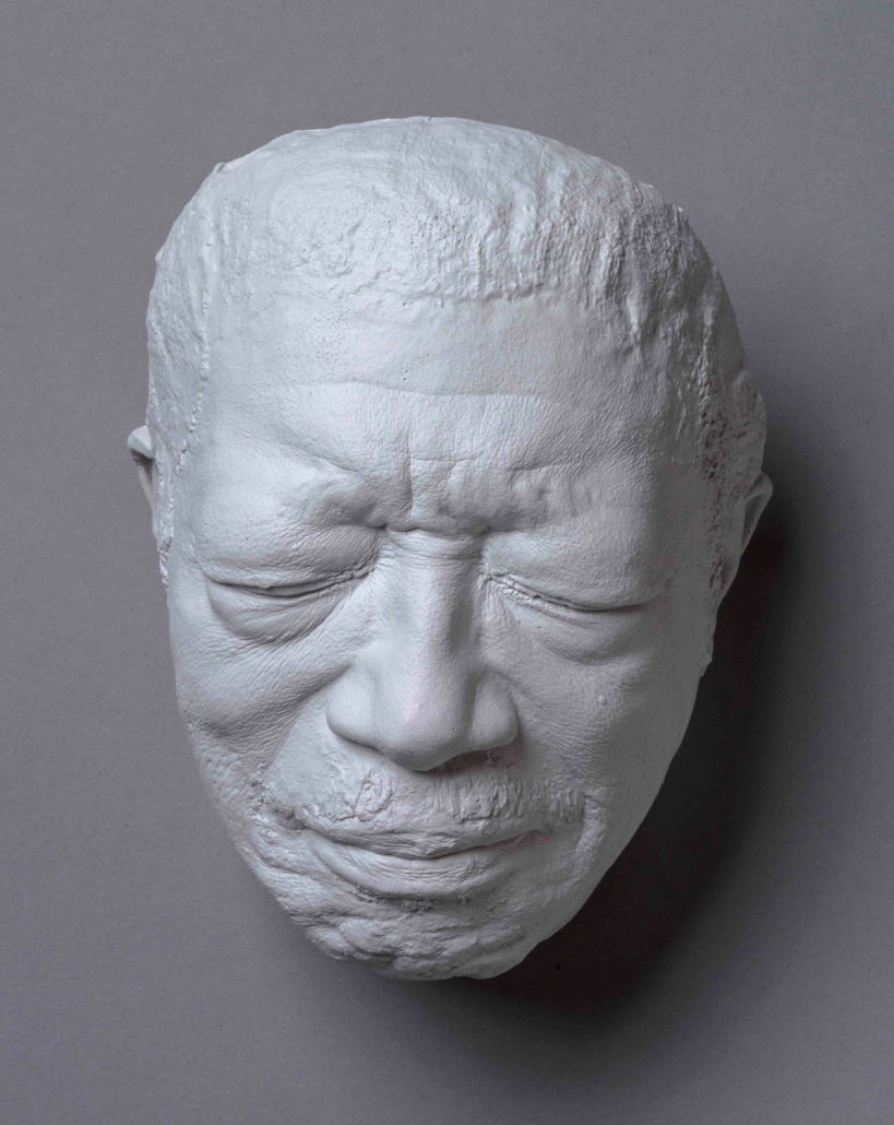 Cast-resin mask of the face of Bo Diddley, one of 15 on display in A Cast of Blues, opening at the Historic Eureka School in Hattiesburg, Miss., on September 11.