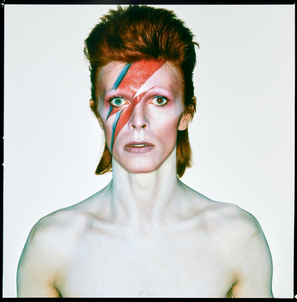 Brian Duffy, 'David Bowie, Aladdin Sane (Eyes Open),' est. $50,000-$70,000. Image courtesy of Bonhams