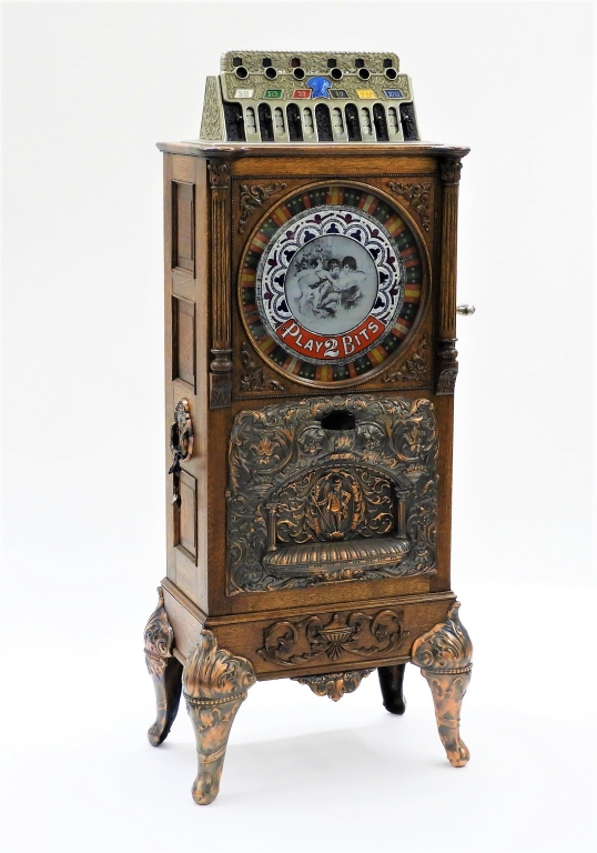 Circa-1904 Caille Brothers Eclipse upright 25-cent slot machine, est. $10,000-$15,000