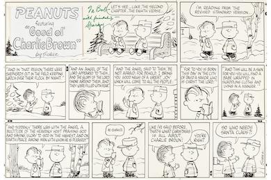 1966 Peanuts comic strip art sets new auction record