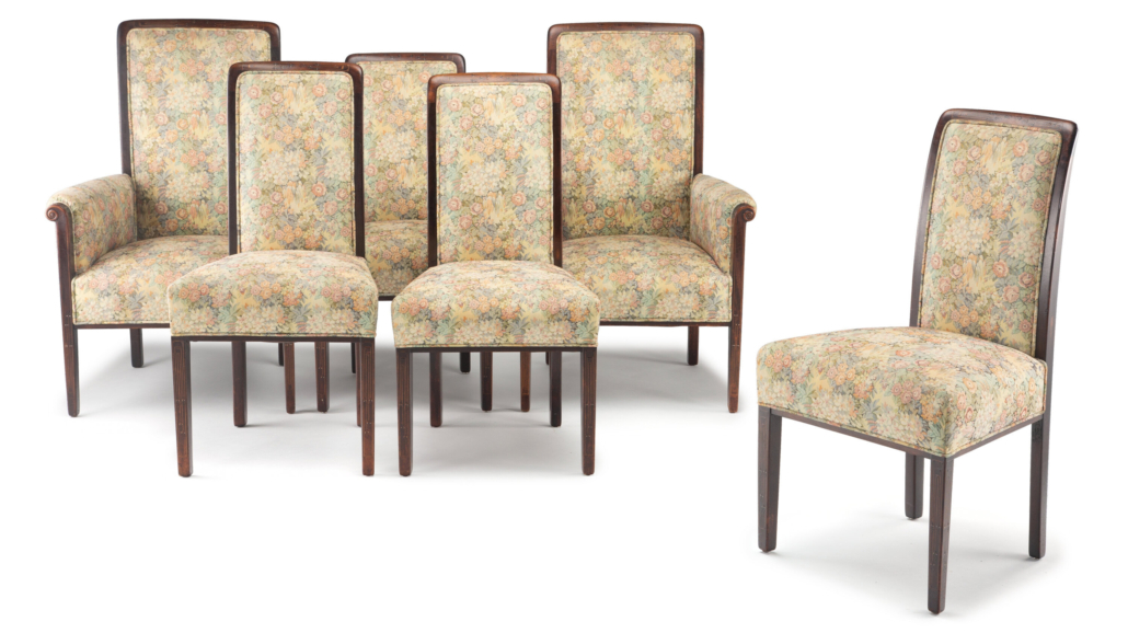 Circa-1913 Greene and Greene group of six chairs for the Cordelia Culbertson House, est. $50,000-$70,000