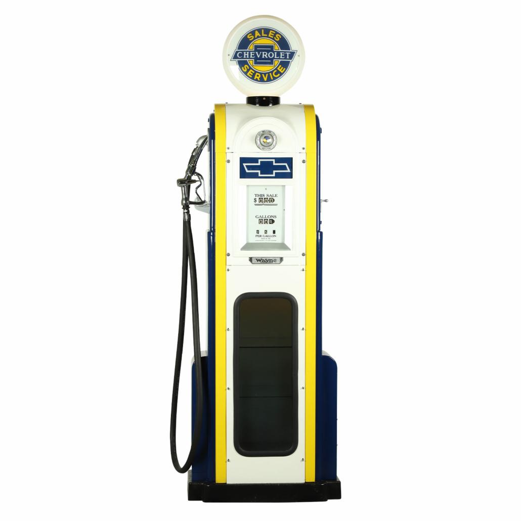 Circa-1940s Wayne Model 60 American made Chevrolet gas pump, CA$5,605