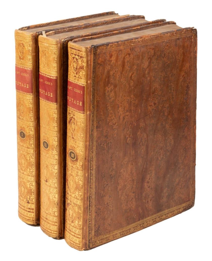 Three-volume account of Captain James Cook's final voyage, est. $6,000-$9,000