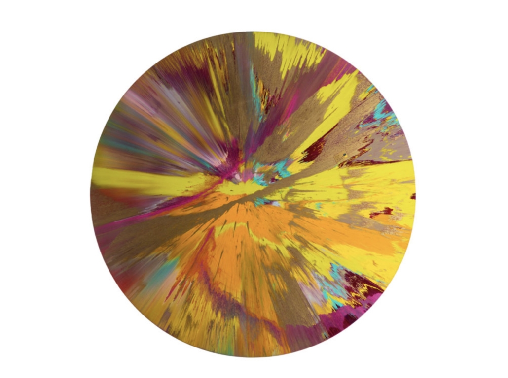 Damien Hirst, 'Beautiful I Don't Want to be a Dead Artist Painting,' est. $250,000-$350,000