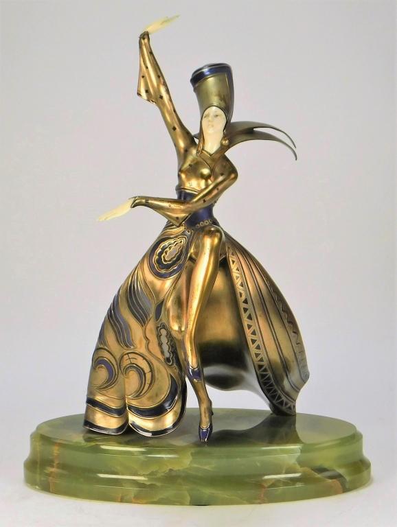 Viennese dancer sculpture by Gerda Iro Gerdago, est. $800-$1,200