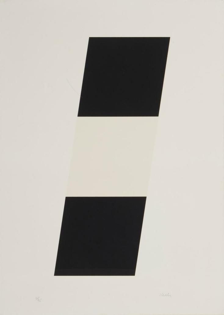 Ellsworth Kelly, 'Black White Black,' $8,750