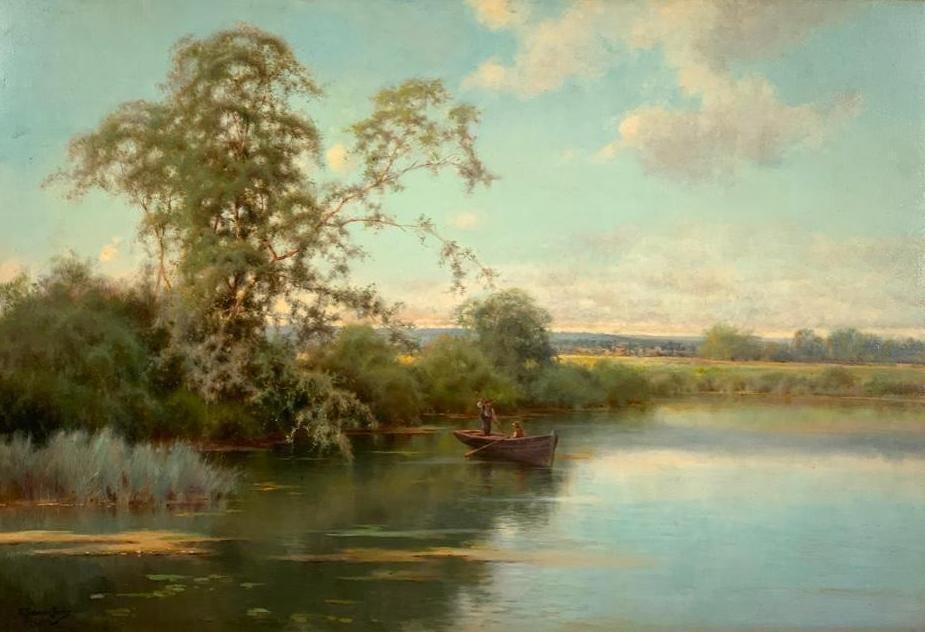Emilio Sanchez Perrier river scene, est. $6,000-$9,000
