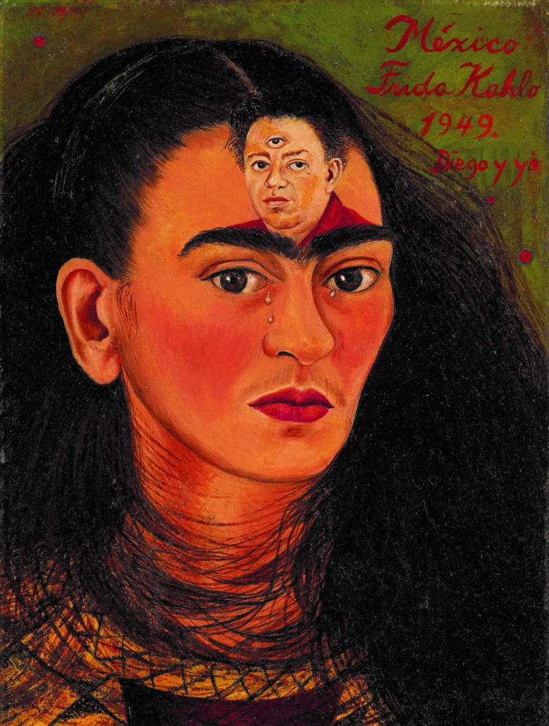 Frida Kahlo, 'Diego y yo (Diego and I),' 1949, estimated in excess of $30 million. Image courtesy of Sotheby's
