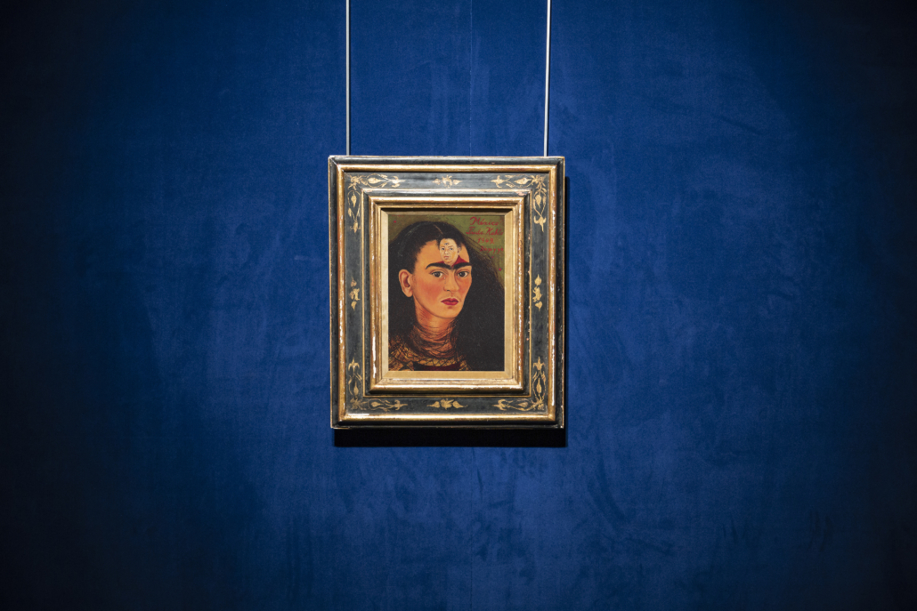 Frida Kahlo's 'Diego y yo (Diego and I)' is the final fully realized 'bust' portrait she created before her death in 1954. Image courtesy of Sotheby's