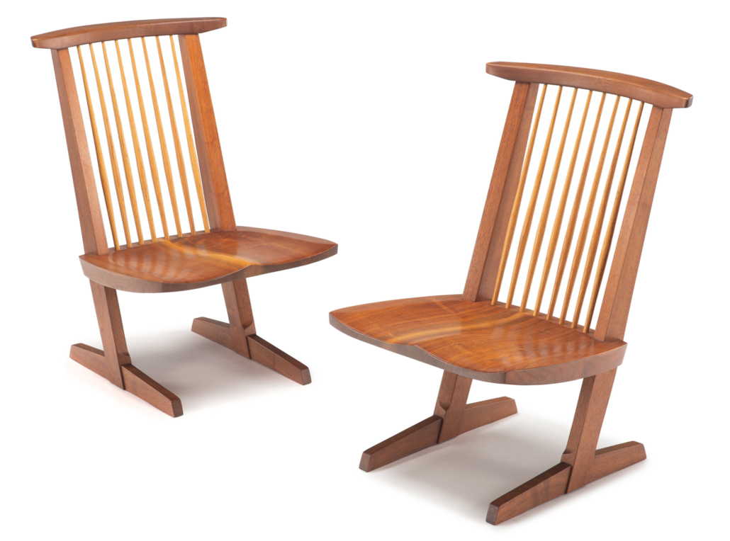 George Nakashima pair of Conoid lounge chairs est. $15,000-$25,000