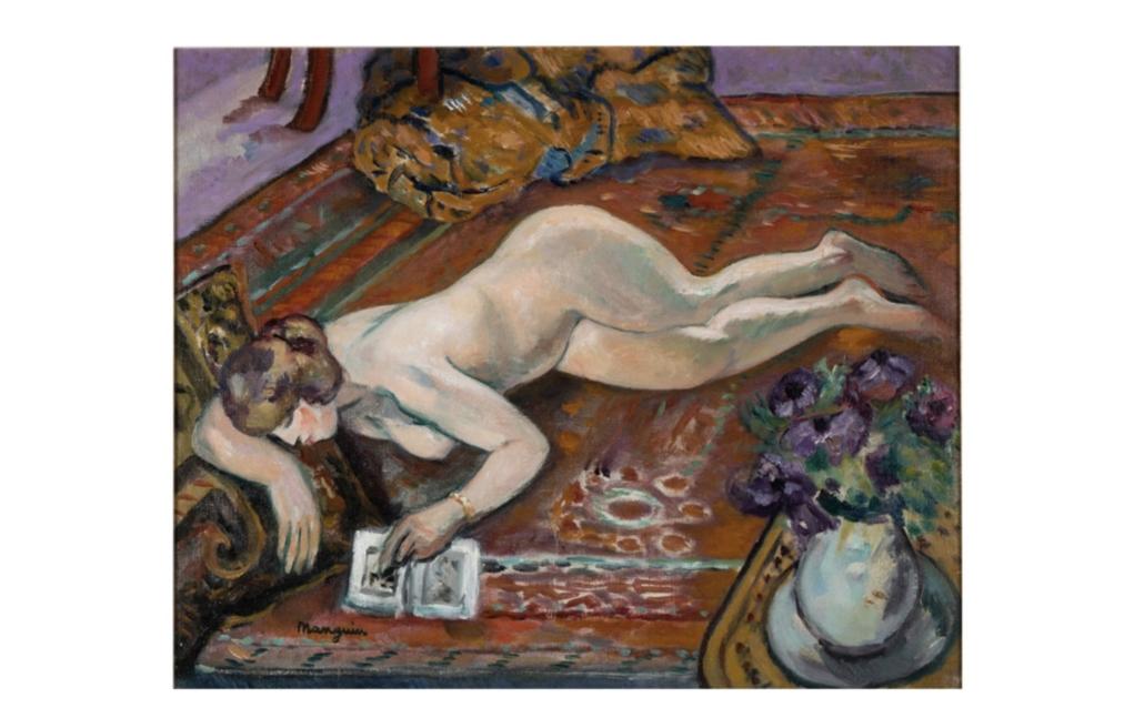 Henri Charles Manguin, 'Grenouillette couchee sur le tapis,' $50,000-$70,000