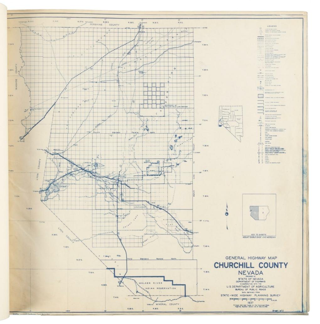 Complete set of highway maps of Nevada counties, est. $4,000-$6,000