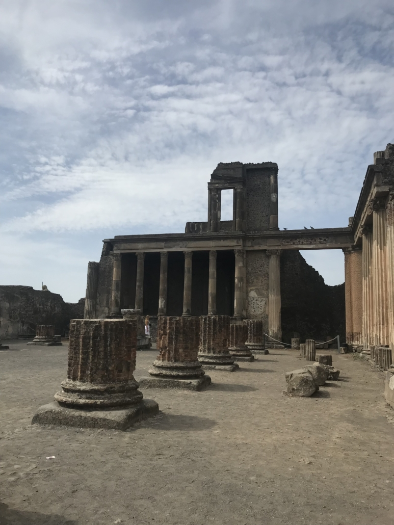 Excavated in the 1800s, the Forum was located on the west side of Pompeii, but it was the center for religious, political, business and cultural activities. Photo credit Andrea Valluzzo
