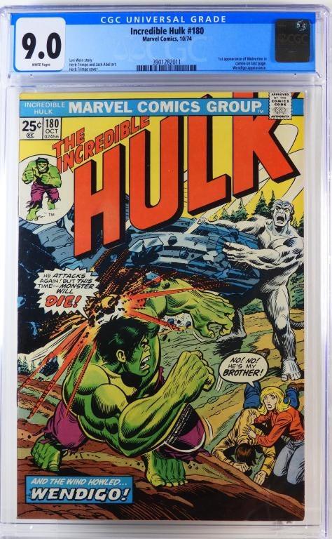 Marvel Comics' Incredible Hulk #180, est. $3,000-$4,000