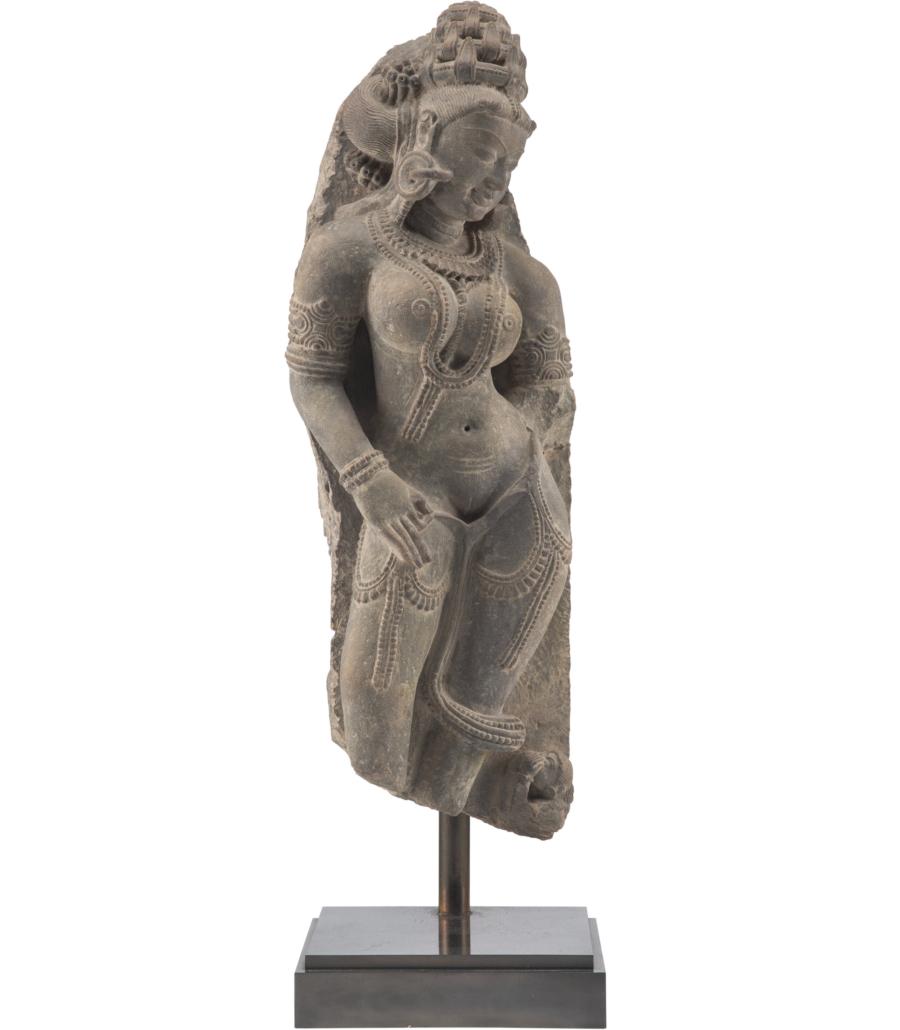 Indian sandstone female deity temple element, est. $15,000-$20,000