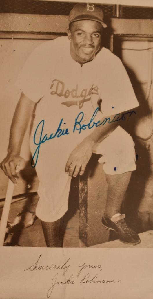 Circa-1950-1951 Jackie Robinson autographed photo, est. $100-$1,000