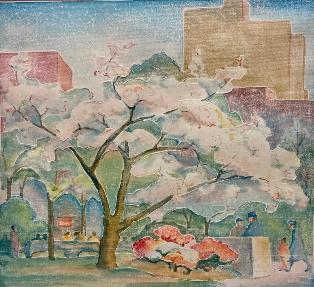 Katharine H. McCormick, 'Rittenhouse Square, Spring,' est. $1,000-$2,000