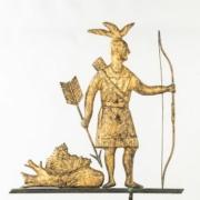 Molded copper 'Massasoit' weathervane, $43,750