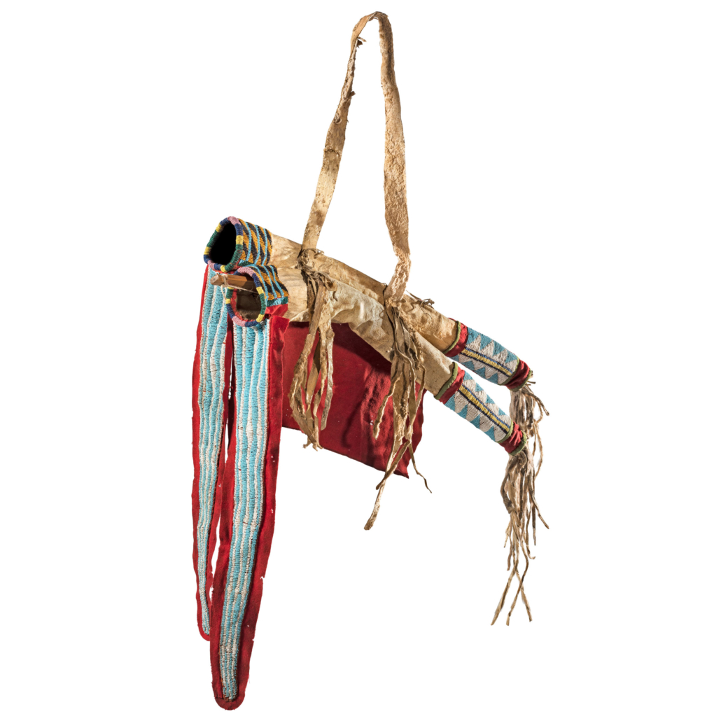 Ute beaded mountain lion hide bowcase and quiver, $22,500